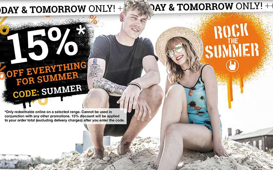 15% off everything for SUMMER!