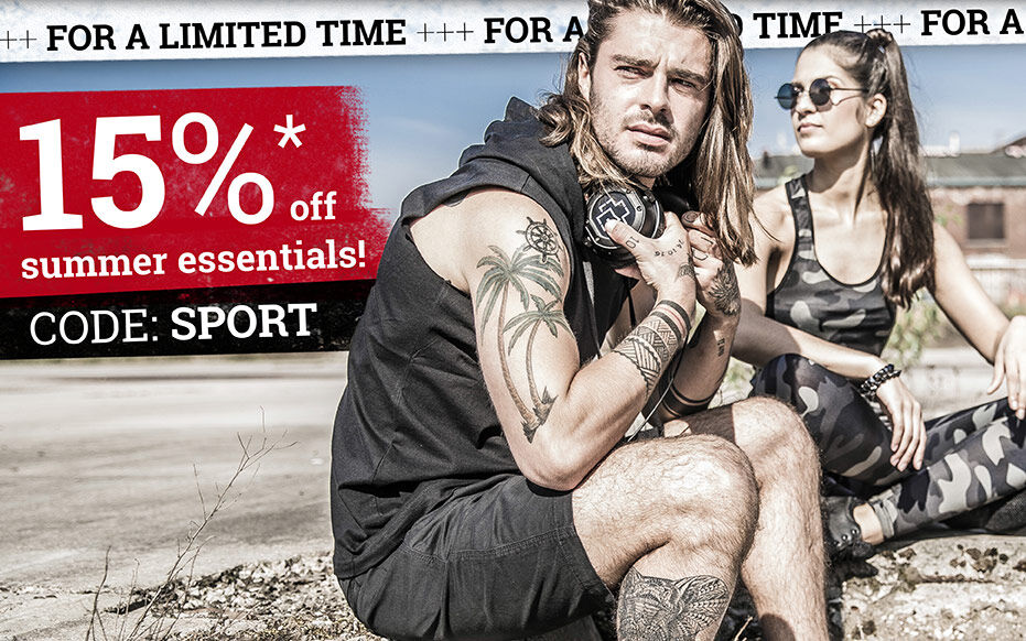 15% off summer essentials!