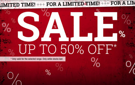 SALE - Up to 50% discount!