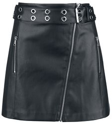 PU Asymmetric Skirt