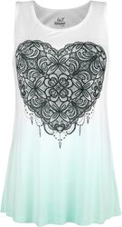 White Top with Colour-Gradient and Print