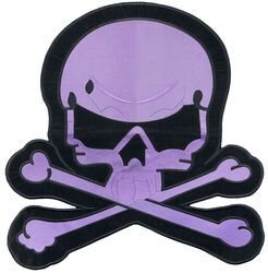 Big purple skull patch