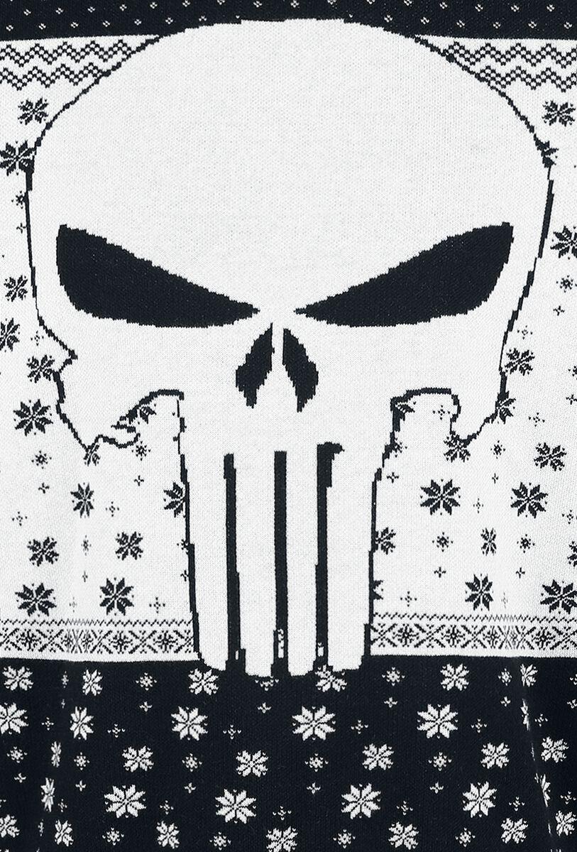 Skull - Logo | The Punisher Christmas jumper | EMP
