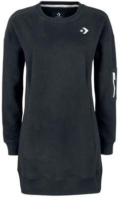 Blocked Fleece Sweatshirt Dress