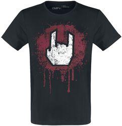 Black T-shirt with Rockhand Print
