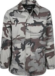 Camo Cotton Coach Jacket