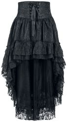 Shorter-Front Skirt with Lace