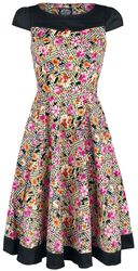Peony And Zephyranthes Floral Tea Dress