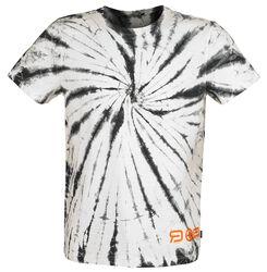 RED X CHIEMSEE - White/Black Batik T-Shirt