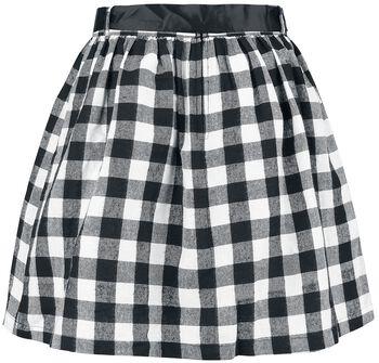 Black Premium Checked Skirt