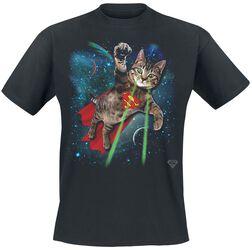 Super Kitten Soaring In Space