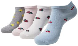 Recycled Yarn Fruit Invisible Socks 4-Pack