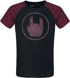 Black T-shirt with Red Rockhand Print