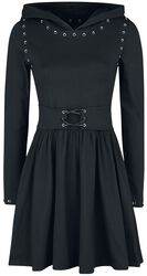 Hooded Dress with Eyelets