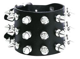 Spikes bracelet 3-rows