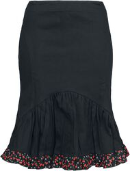 Skirt with Bow and Cherry Hem