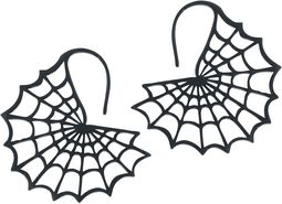 Black Spiderweb Earrings
