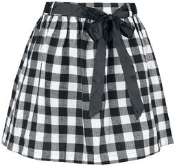 Black Premium Checked Skirt