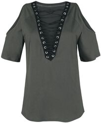 Open-Shoulder Top With Lacing