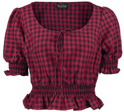 Sadie Red Gingham Top