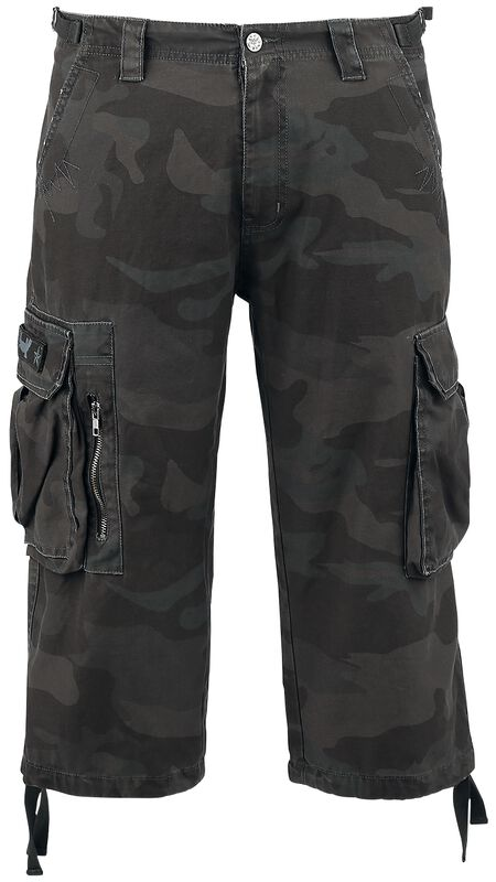 3/4 Army Vintage Shorts