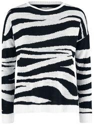 Zoe Zebra Jaquard Sweater