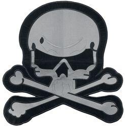 Big gray skull patch