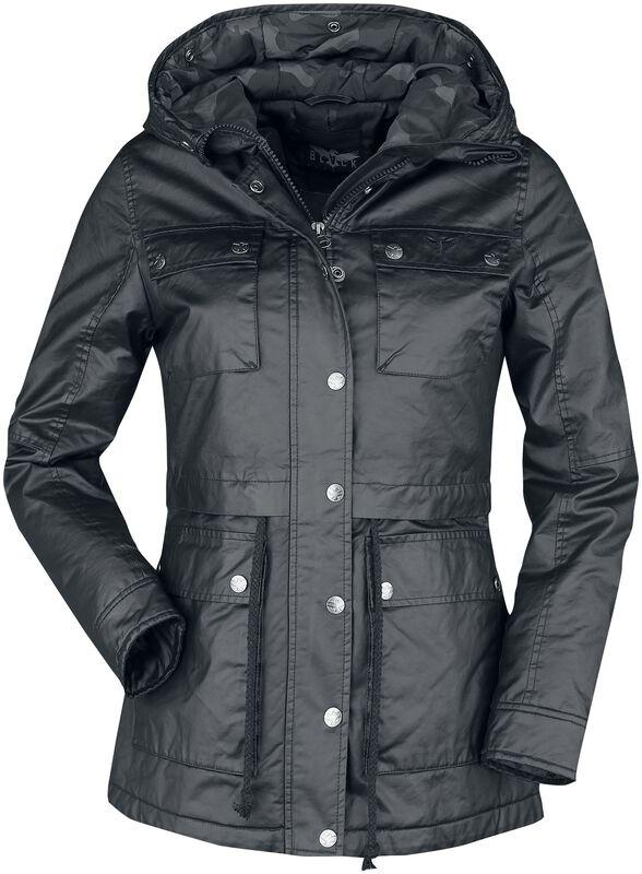 black jacket with flap pockets