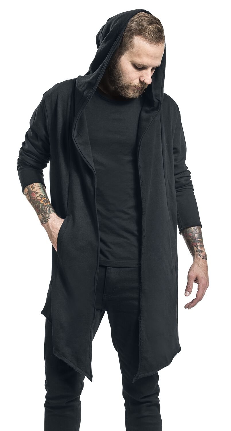 cheapest price the best elegant appearance Long Hooded Open Edge Cardigan