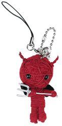 Schlüsselanhänger Voodoo The Devil red