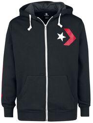 Star Chevron Graphic Full-Zip Hoodie