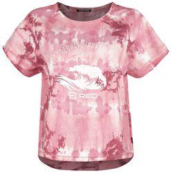 RED X CHIEMSEE - White-Red Batik T-Shirt