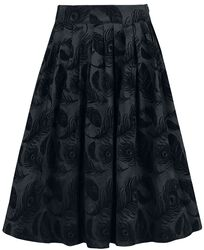 Andrea Flocked Feather Skirt