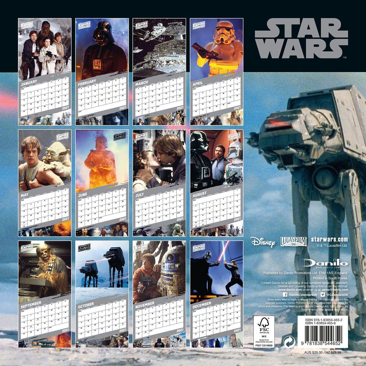 Calendario Star Wars 2021 2021 Wall Calendar   Classic | Star Wars Wall Calendar | EMP