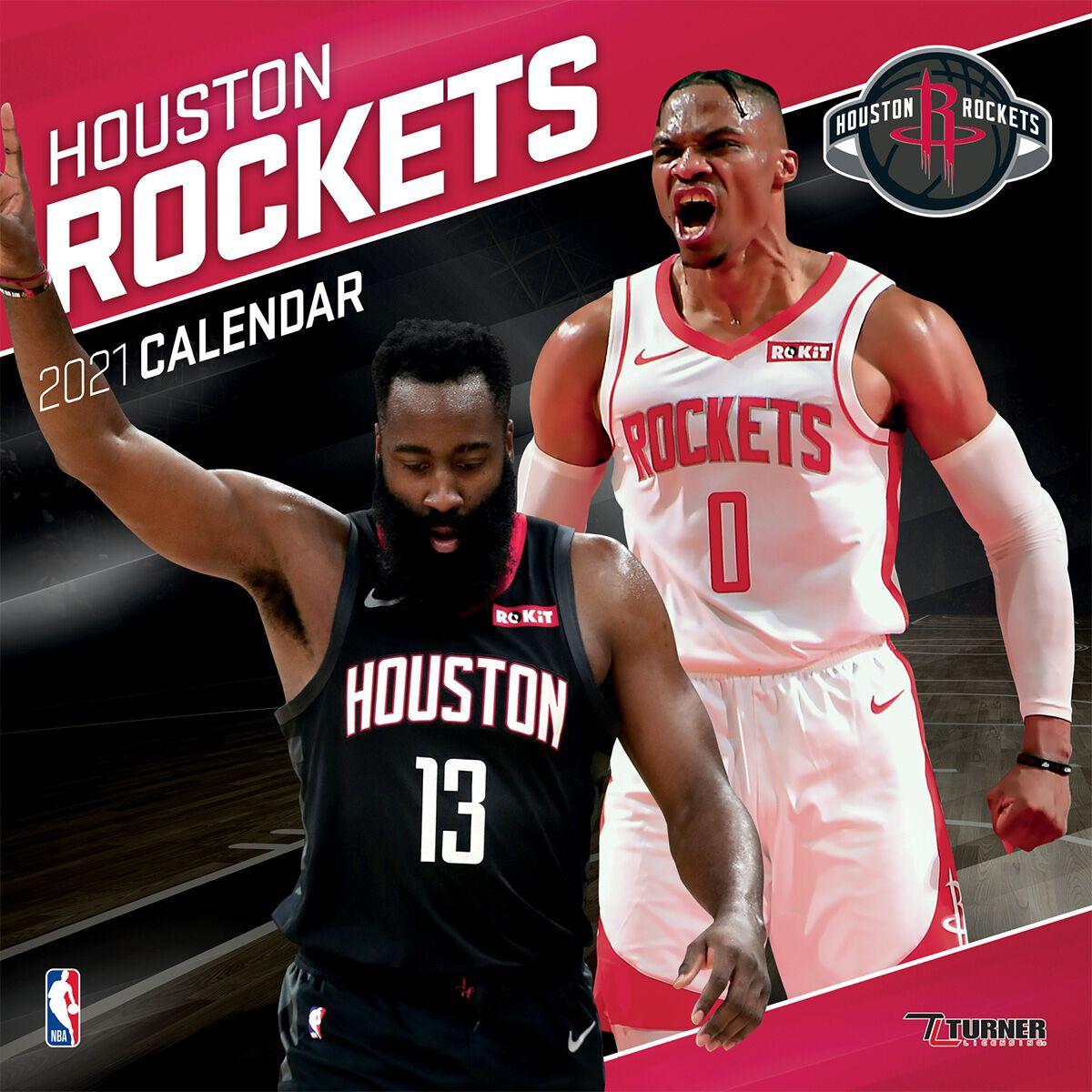 Houston Rockets   Calendar 2021   NBA Wall Calendar   EMP