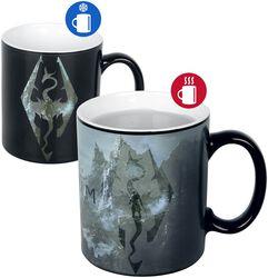V - Skyrim - Dragon Symbol - Heat-Change Mug