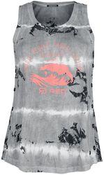 RED X CHIEMSEE - White/Black Batik Top