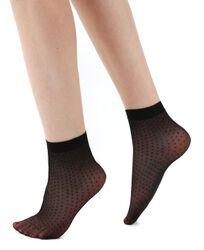 All Over Sheer Spot Ankle Socks