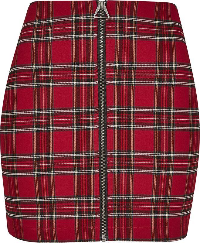Ladies Short Checker Skirt
